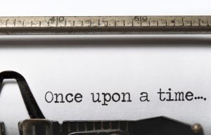 One upon a time typed on an old typewriter