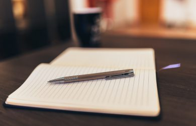 Penna och anteckningsbok